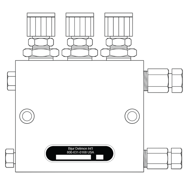 Spin-Rev Control Unit Air-Oil Blocks