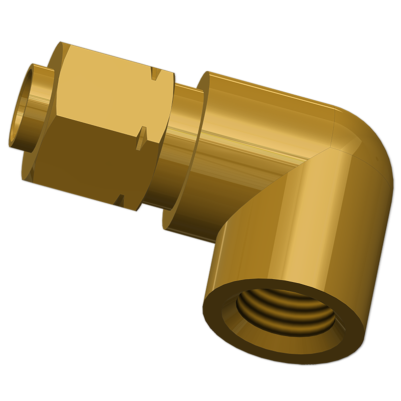 Tube Adapters Elbow Female Connector