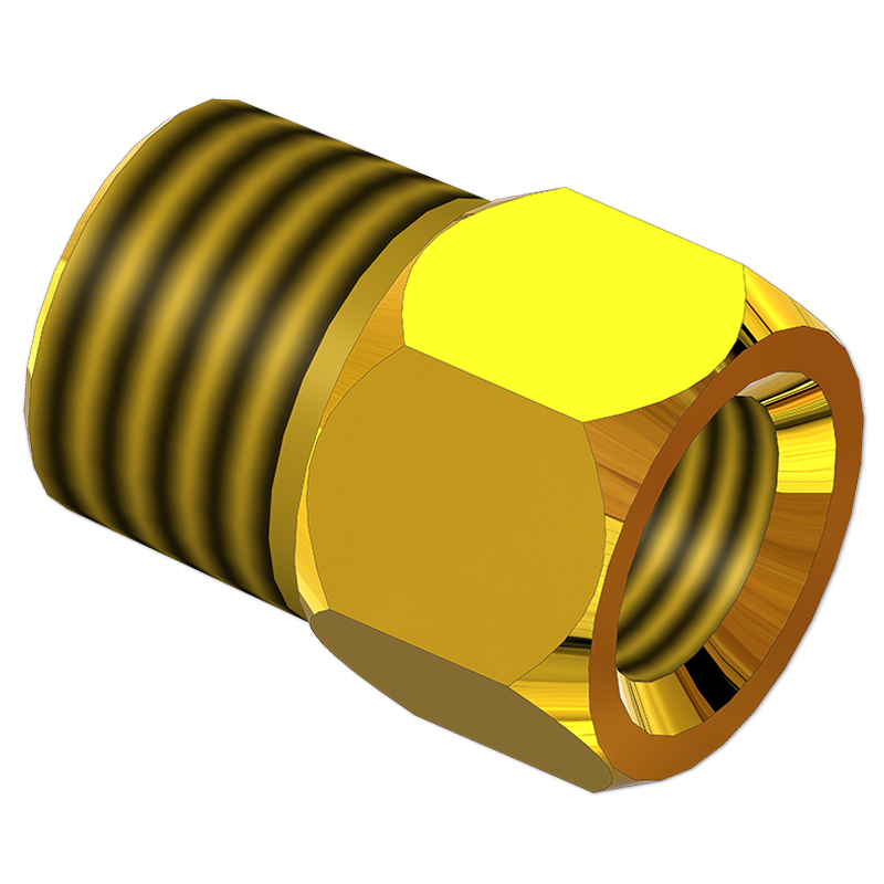 STRAIGHT TUBING ADAPTER BODY FEMALE TO MALE