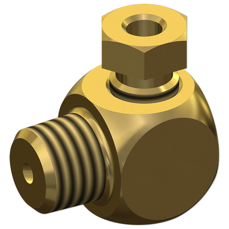 Tube Adapters Elbow Male Connector