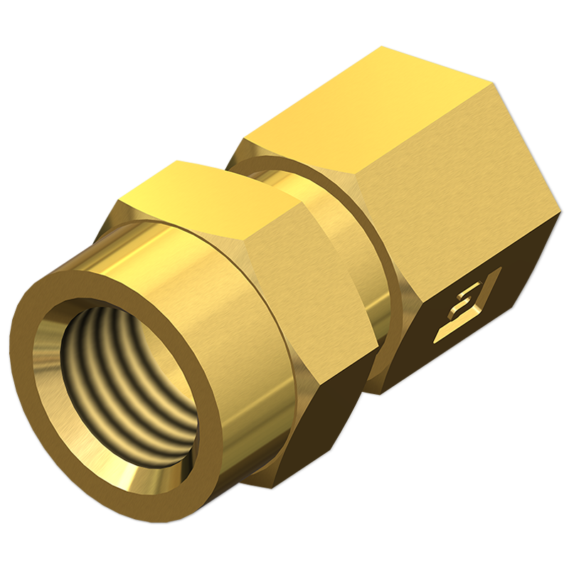 Tube Adapters Straight Female Connector