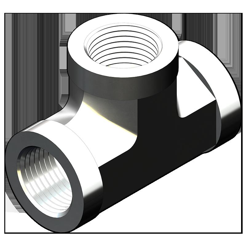 Pipe Fittings Tee Adapters Female X Female X Female